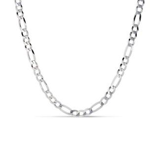 Cadena de plata 3x1 80-60cm Oro Vivo