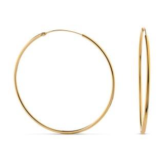 Brincos em aro banhado em Ouro 45x1,5mm Oro Vivo
