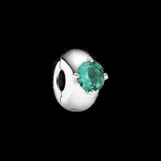Clip Pandora de Plata 799204C03 Solitario Verde