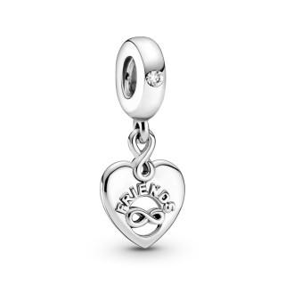Charm Pandora 799294C01 de Prata coração Amigos