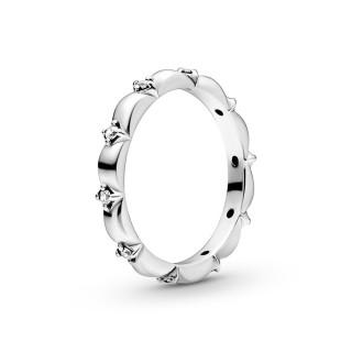 Anillo de plata Pandora banda petálos circonita 198791C01-60