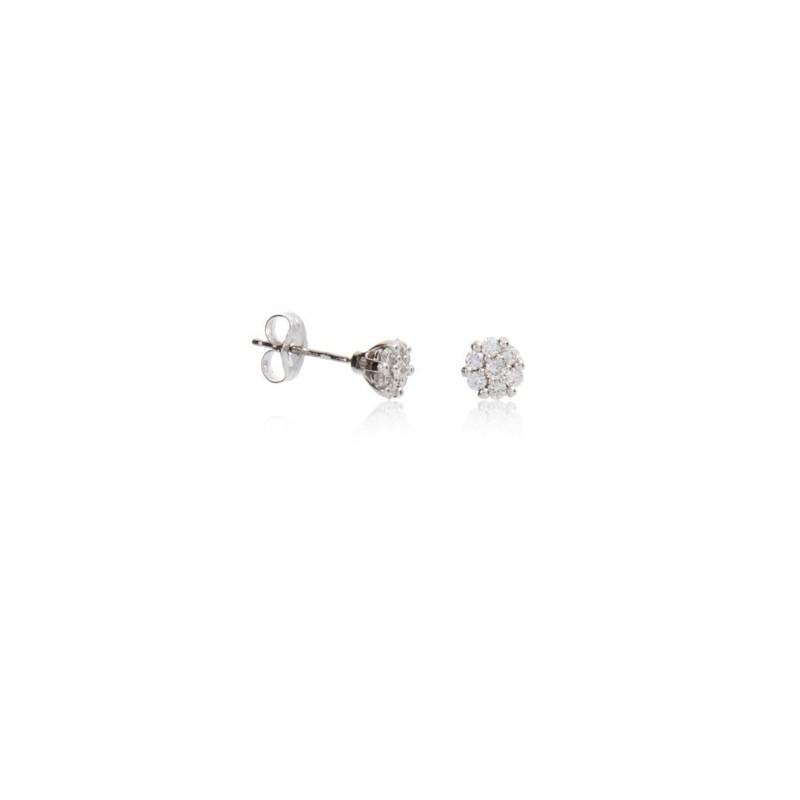 Brincos Roseta 14 Diamantes