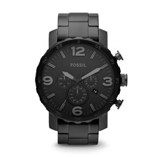 Relógio Fossil Nate Aço Jr1401 Para Homem