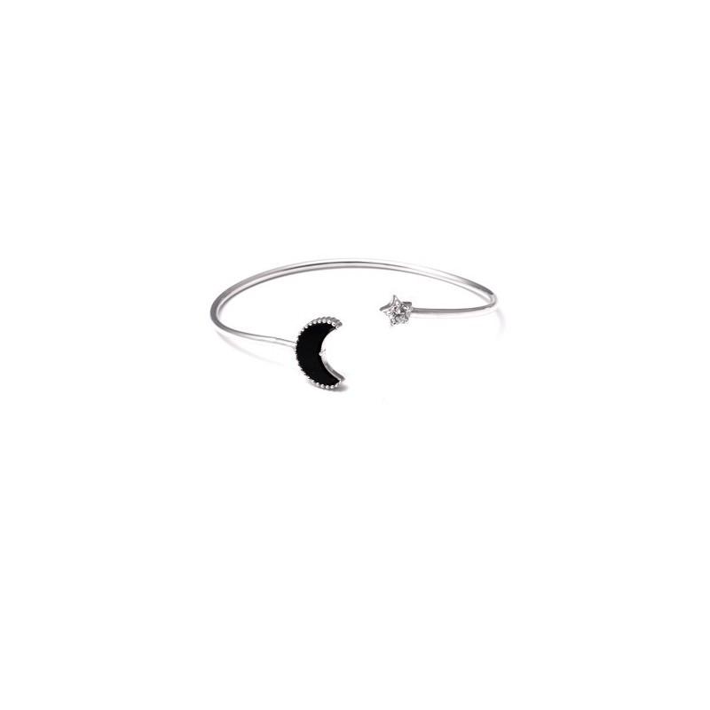 Pulseira rígida Lua e Estrela