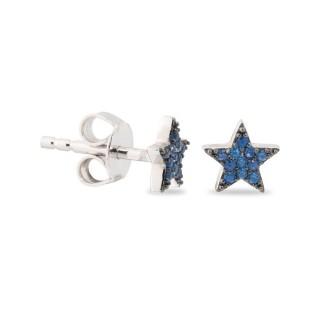Pendientes Estrella Azul