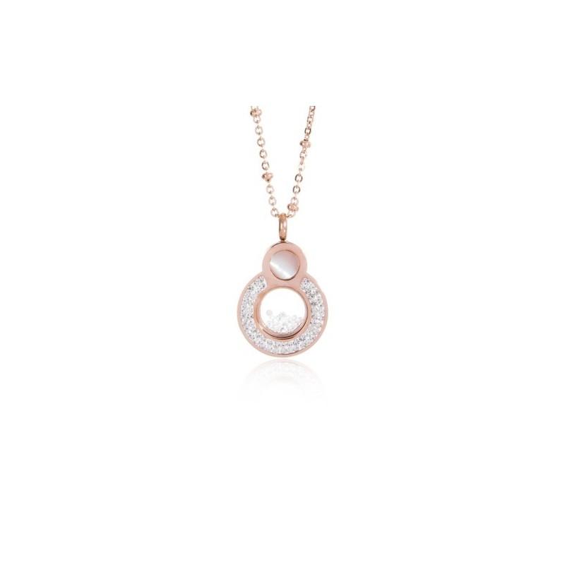 Collar Círculos Cristales