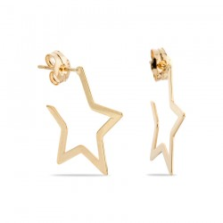 Pendientes criolla de oro en forma de estrella