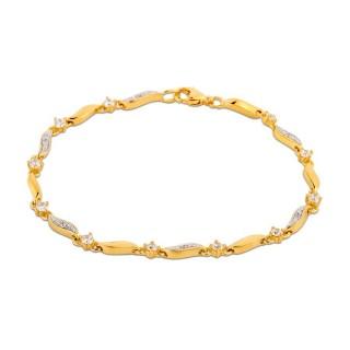 Pulsera bañada en oro 18cm Oro Vivo