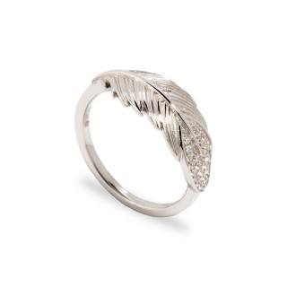 Anel em prata com folhas Oro Vivo