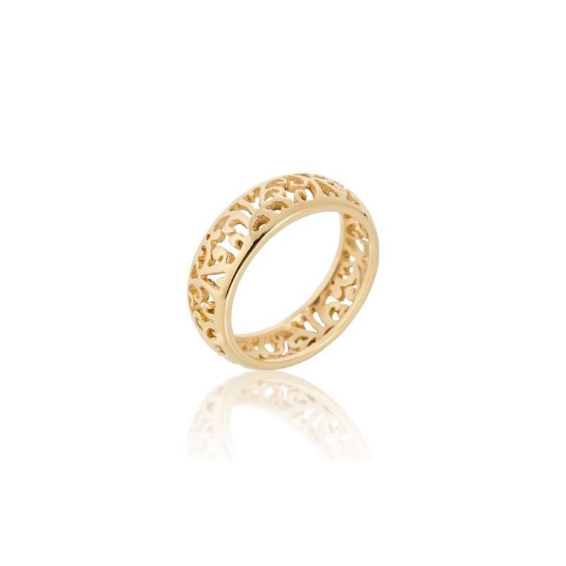 Anel banhado em ouro calado Oro Vivo