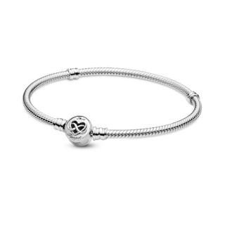 Pulsera de plata Pandora 599365C00-19 corazón+infinito T- 19