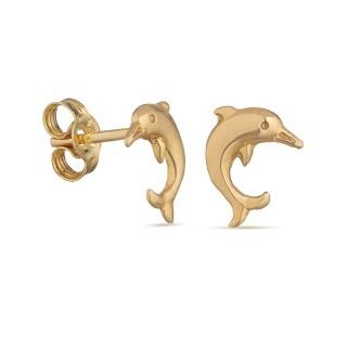 Pendientes de oro amarillo con delfín Oro Vivo