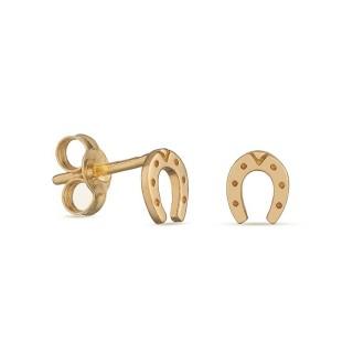 Pendientes de oro amarillo con herradura Oro Vivo