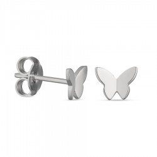 Pendientes de plata con mariposa Oro Vivo