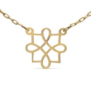 Collar de oro amarillo filigrana