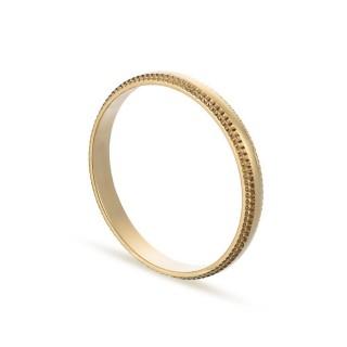 Alianza de oro amarillo 18k lisa bordes 2.5mm Oro Vivo