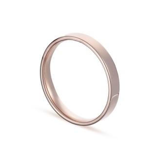 Alianza de oro rosa 9k lisa confort 3mm Oro Vivo