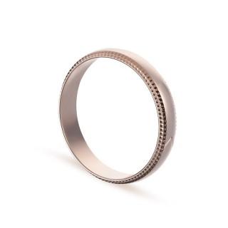 Alianza de oro rosa 9k lisa bordes labrados 4mm Oro Vivo